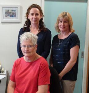 (from left) Karen, Anna and Sharyn.